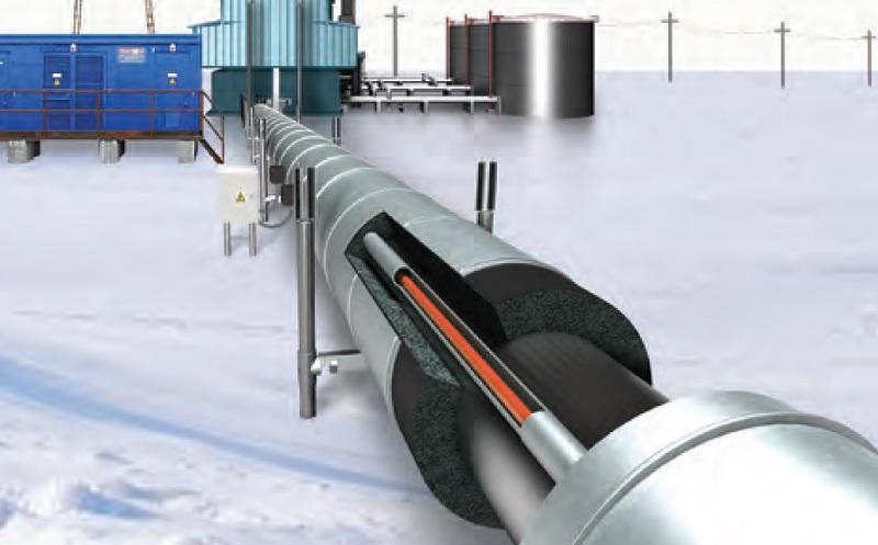 На основе скин эффекта создают экономичные системы обогрева трубопроводов