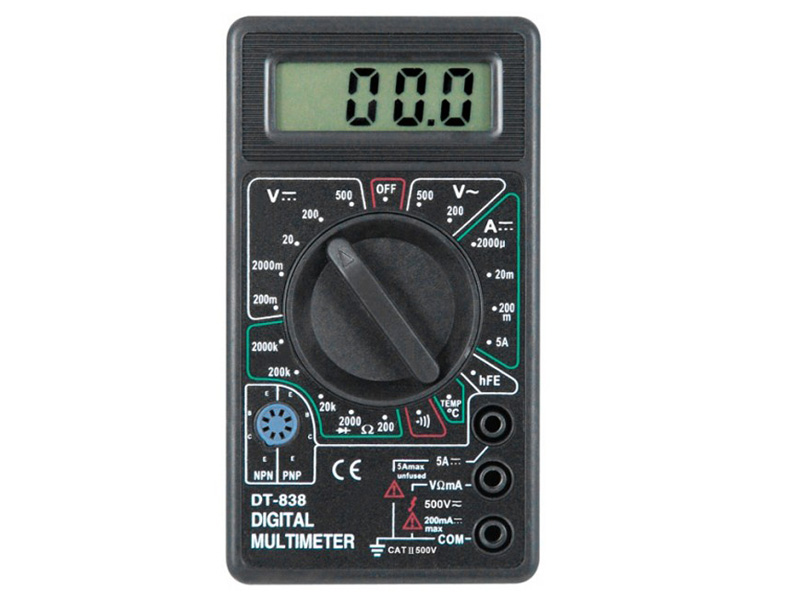 Мультиметры снабжают режимами для измерения напряжения