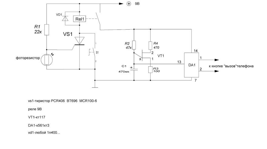Лазерная сигнализация с дистанционным оповещением