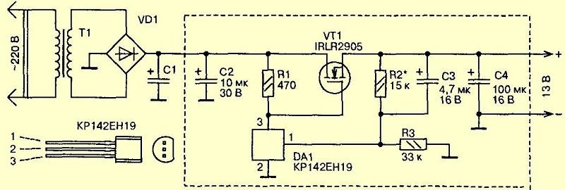 Мощный блок питания на полевом транзисторе