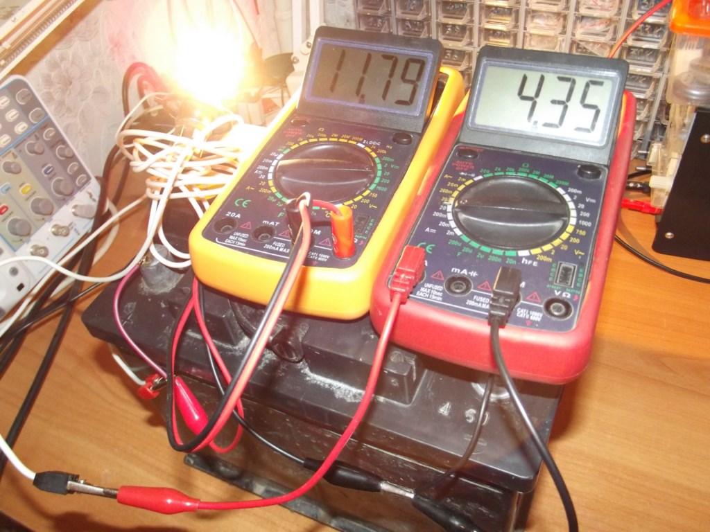 Просадка до 11,79 вольт