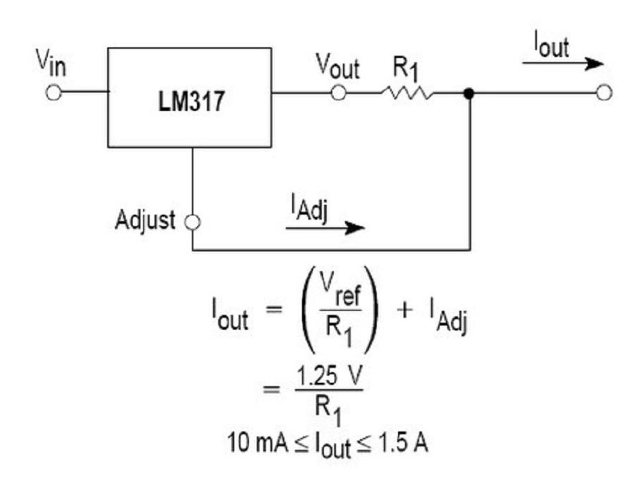 Схема включения LM317