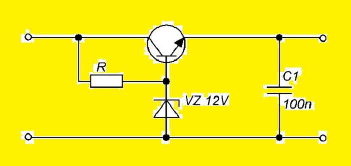 Схема классического линейного СН